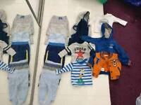 Bundle of boys clothes aged 0-3 months