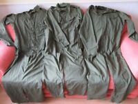 3 Pairs of British Army Military Overalls