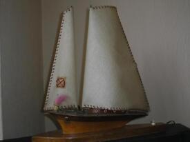 Vintage schooner LAMP....