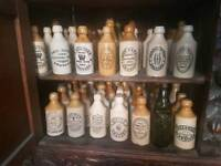 Wanted antique stoneware bottles vintage ginger beer mineral water