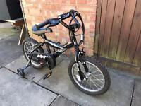 Boys 16 inch bike with stabilisers