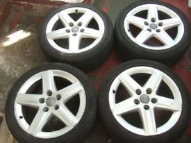 """17"""" Genuine Audi A3 Alloy Wheels. Volkswagen Golf MK5, Caddy, Touran, Seat *POSTAGE AVAILABLE*"""