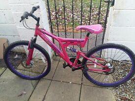 Ladies bike pink needs two new inner tubes and brake cables