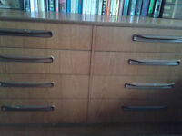 Excellent, vintage large 8 drawer chest of drawers G-Plan Fresco