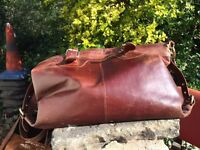 Beautiful, spacious genuine leather shopper bag - sturdy & high-quality