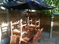 6 seat garden table