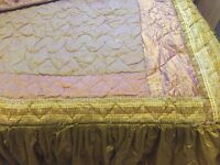 Boudoir Purple and mustard/gold BEDSET for added luxury
