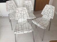 Ikea Salmi round table & 4 Vilmar chairs