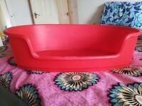 Red dog basket