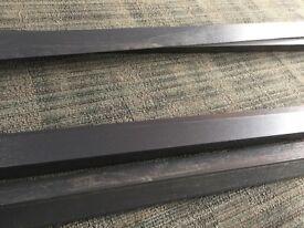Modern Grey Wood Grain 5 metre UPVC Plastic Angle 40mm x 40mm Lengths 90 degree Composite Decking