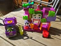 Imaginext D.C. Superhero Joker Funhouse with vehicles and figures