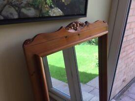 Great Condition Heavy Solid Pine Mirror