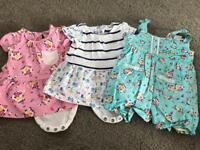 Newborn girls baby clothes bundle