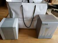 The white company ice bucket and prosecco flutes x4
