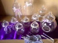 Wedding Decoration /Accessories -Sweet/Candy Jars with Tongs.