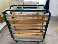 Folding guest bed frame