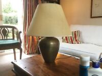 Brass lamp with 'parchment' shade