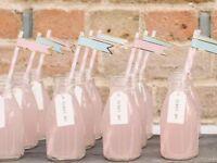 Retro school milk bottles