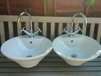 Mixer taps (matching pair)