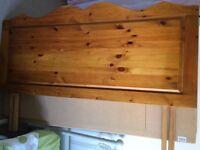 Headboard for Kingsize Bed. Handmade solid pine.