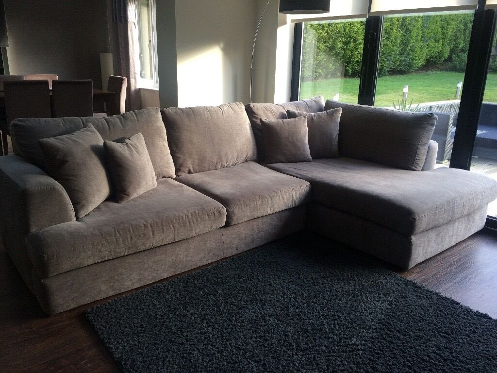 Next Stratus Iv Chaise Sofa In Grey Only 2 Years Old