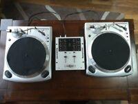2x Numark TT1610 turntable and Numark M101 Mixer [Flexible Price]