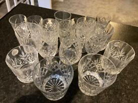 Webb Corbett Georgian design cut glass glasses