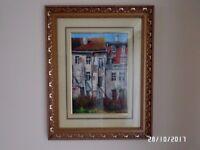 Old buildings - oil painting - K.Seński