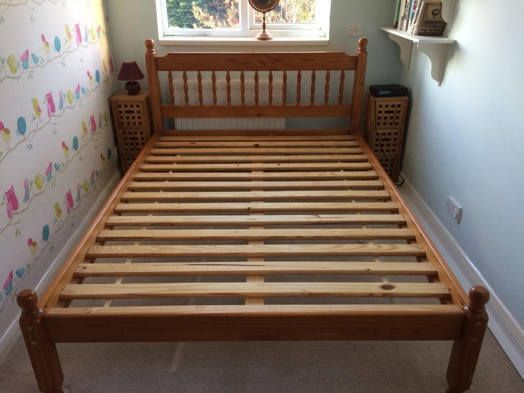 Pine double bed (sold)