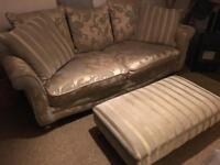 Stunning Large 3 seater sofa and footstool