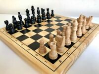 WOODEN CHESS SET (BRAND NEW)