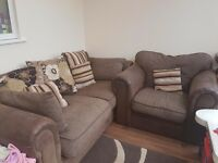 Good condition sofa and arm chair
