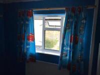 Lightening Mc queen curtains + lightshade