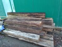 Wooden sleepers used