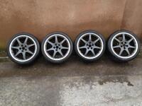 "18"" bbs monaco jaguar alloy wheels 5x108 pcd"