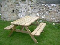 Picnic table -Garden bench 6ft - new