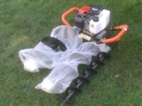 PETROL EARTH AUGER WITH THREE BLADES £120