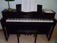 Yamaha CLP 545R. Digital piano with matching stool etc.rosewood colour.Beautiful tone.