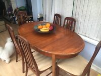 Extending oak dining table & 6 chairs - MUST GO TODAY!!!!