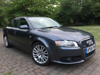 2006 Audi A4 2.0 Turbo 200 Bhp Sline Bose Sound system* 6 Gears * Rear parking sensors * Handsfree p