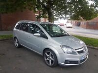 Vauxhall zafira 1.9 diesel hpi clear warrented miles long MOT 7 seater starts and drives perfect