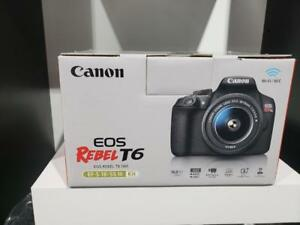 STORE SALE - Canon EOS Rebel T6 DSLR Camera with EF-S 18-55mm f/3.5-5.6 DC III Lens Kit