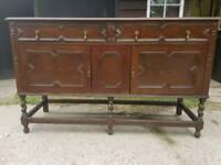 17th century style solid Oak sideboard