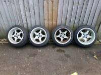 Nissan alloys with new tyres