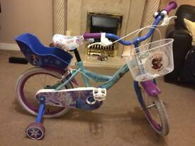 Frozen 'Forever' child's bike - used once on Boxing Day.
