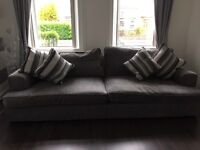 Grey 4 seater & 3,seater sofa