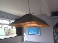 Pool table canopy light