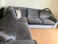 Large corner sofa and arm chair