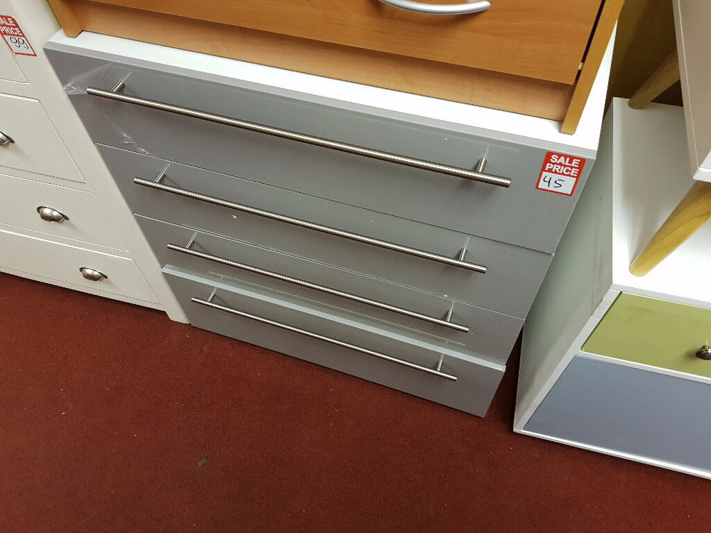 atlas grey high gloss 4drawer chest 2nd