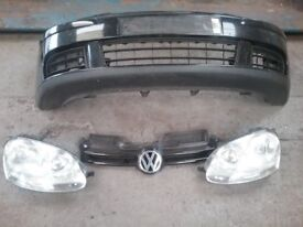 VW Golf Mk5 04 - 09 Front bumper, grille and headlights